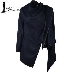Free-Shipping-2016-Women-s-fashion-winter-coat-Large-lapel-zipper-cuffs-loose-woolen-jacket-coat-1