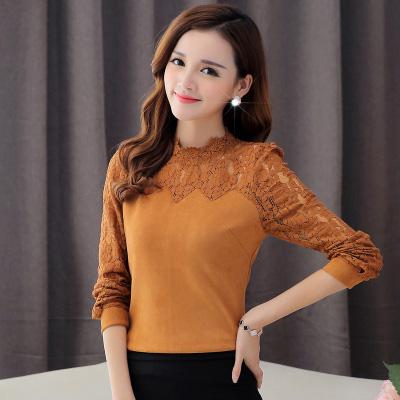 Free-Shipping-New-2016-Spring-Women-Blouses-Shirt-Fashion-Casual-Long-sleeve-Lace-shirt-Plus-size-1