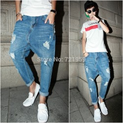 Free-shipping-2015-Personality-harem-pants-male-hole-9-jeans-ankle-length-trousers-male-of-alcoholicity-1