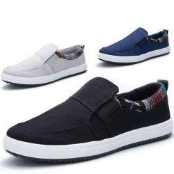 Free-shopping-Autumn-men-canvas-low-casual-shoes-pedal-shoes-lazy-winter-cotton-padded-shoes-1