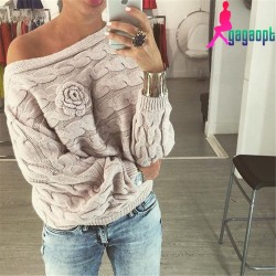 Gagaopt-2015-Winter-Women-Loose-Tops-Casual-Sweater-Knitted-Flower-Braided-Twist-Hedge-Female-Retro-Sweater-1