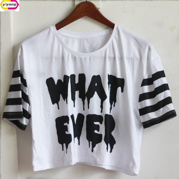 High-Quality-2015-T-shirt-Women-Crop-Top-Fashion-3D-Print-Harajuku-Summer-Tee-Cartoon-Short-1