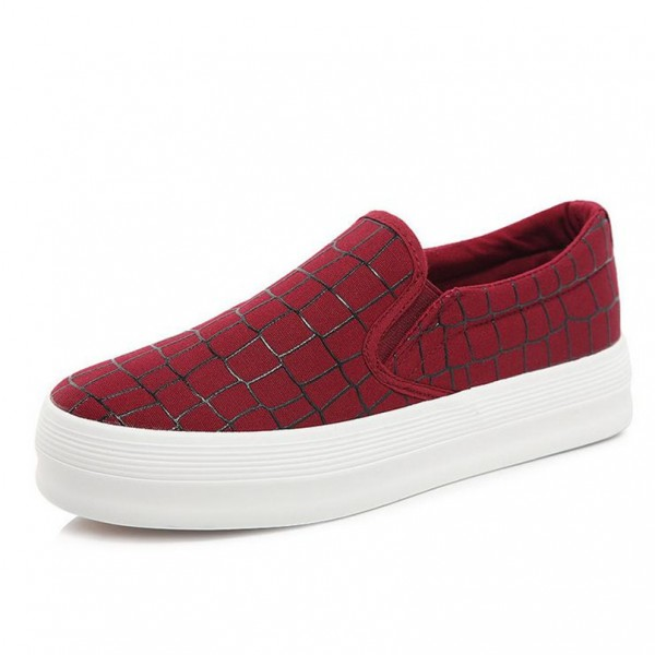 High-quality-low-flat-shoes-2015-women-platform-loafers-lazy-canvas-Plaid-shoes-slip-on-shoes-1