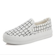 High-quality-low-flat-shoes-2015-women-platform-loafers-lazy-canvas-Plaid-shoes-slip-on-shoes-2