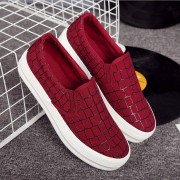 High-quality-low-flat-shoes-2015-women-platform-loafers-lazy-canvas-Plaid-shoes-slip-on-shoes-5