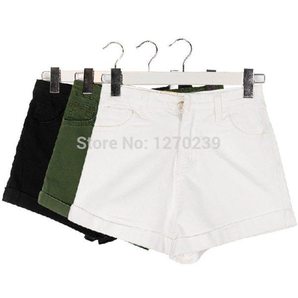 KZ35-Seasons-Necessary-Vintage-Basic-Models-Washed-Denim-Shorts-Women-High-Waist-Jeans-Shorts-White-Green-1