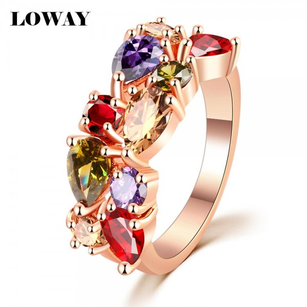 LOWAY-Fashion-Multicolor-Rings-Women-Anillos-Cubic-Zirconia-18K-Rose-Gold-Plated-Wedding-Finger-Ring-Fine-1