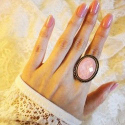 LZ-Jewelry-Hut-R185-R186-Fashion-Retro-All-match-Oval-Cut-Flower-Ring-Jewelry-Pink-1-1
