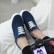 Low-platform-canvas-shoes-spring-casual-lacing-platform-shoes-elevator-shoes-women-s-solid-color-3