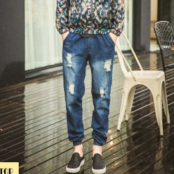 M-S-2015-top-fashion-new-spring-loose-hole-jeans-men-s-casual-denim-jeans-elastic-1