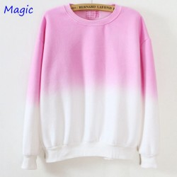 Magic-2015-new-Fall-and-Winter-pure-color-gradient-pullover-women-hoodies-fleece-sweatshirt-one-1