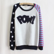 Magic-Pow-flocking-letters-fleece-inside-sweatshirts-big-dot-and-stripe-sleeve-nice-design-women-3