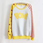 Magic-Pow-flocking-letters-fleece-inside-sweatshirts-big-dot-and-stripe-sleeve-nice-design-women-4