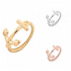 Min-1pc-Gold-Silver-and-Rose-Gold-Cute-Anchor-Women-Rings-JZ010-1