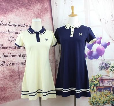 New-Arrival-Navy-Cute-Sailor-A-line-Full-Puff-Sleeve-Natural-Peter-Pan-Collar-Dress-Knee-1