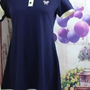 New-Arrival-Navy-Cute-Sailor-A-line-Full-Puff-Sleeve-Natural-Peter-Pan-Collar-Dress-Knee-2