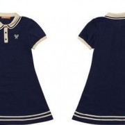 New-Arrival-Navy-Cute-Sailor-A-line-Full-Puff-Sleeve-Natural-Peter-Pan-Collar-Dress-Knee-4
