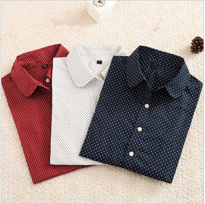 New-Brand-Long-Sleeve-Women-Shirts-Polka-Dot-Blusas-Femininas-Cotton-Floral-Print-Women-Blouses-Casual-1