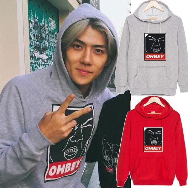 New-EXO-sehun-ohbey-cotton-Sweatshirt-Suit-long-sleeve-hoody-Outerwears-1-1