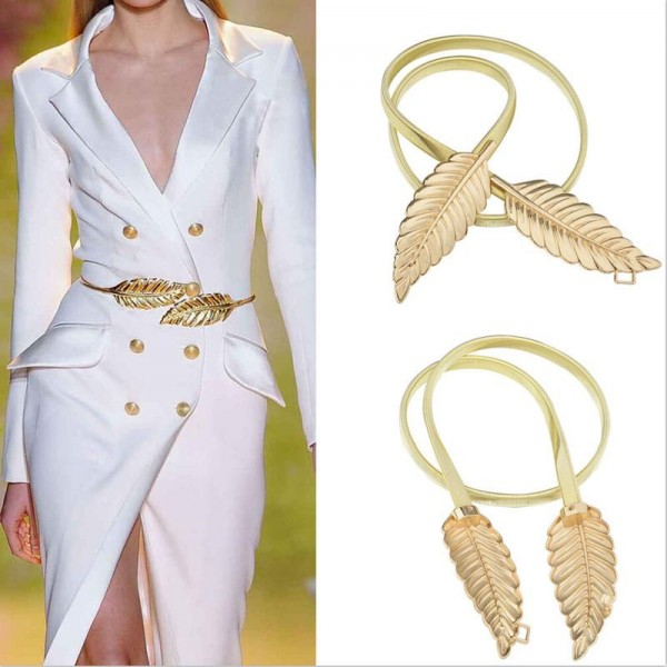 New-Golden-Silver-Fashionable-Women-Leaves-Elastic-Waist-Dress-Belt-Strap-Waistband-Promotion-Sale-Wholesale-1