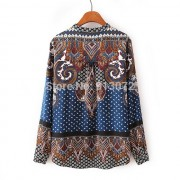 New-Ladies-Elegant-Paisley-Pattern-Print-4-Colors-Blouse-Vintage-Stand-Collar-Long-Sleeve-Brief-Shirts-4