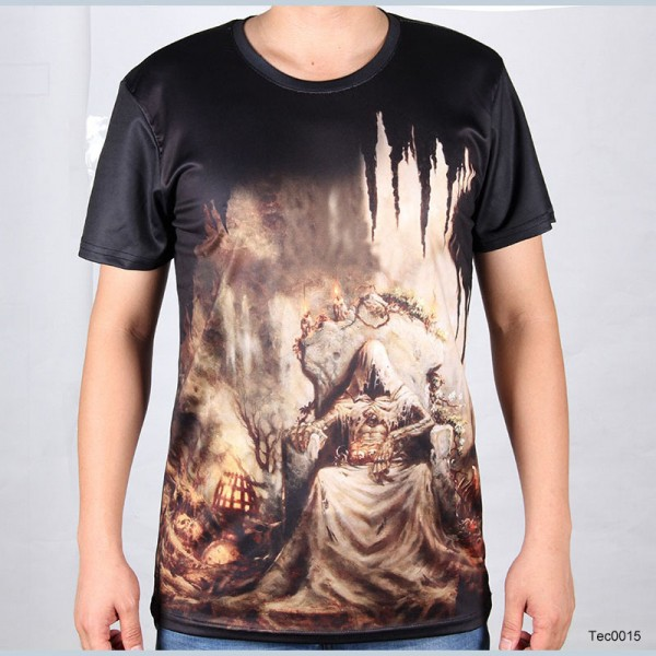 New-Printed-3d-t-shirt-Eiffel-Tower-The-Walking-Dead-Men-Tee-Shirt-Skull-Rock-and-1