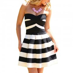 New-Summer-Fashion-Sexy-Strapless-Vestidos-Striped-Pleated-Bubble-Mini-Party-Dress-Off-Shoulder-Women-s-1