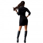 New-Women-Sexy-Mini-Dress-Women-PU-Patchwork-Long-Sleeve-Pockets-Wear-To-Club-Party-Sheath-3