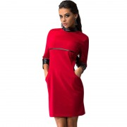 New-Women-Sexy-Mini-Dress-Women-PU-Patchwork-Long-Sleeve-Pockets-Wear-To-Club-Party-Sheath-4