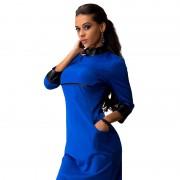 New-Women-Sexy-Mini-Dress-Women-PU-Patchwork-Long-Sleeve-Pockets-Wear-To-Club-Party-Sheath-6