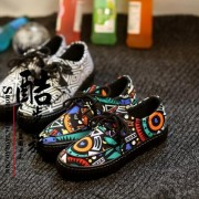 New-women-s-casual-canvas-shoes-flats-low-striped-suit-European-and-American-fashion-Korean-heavy-4