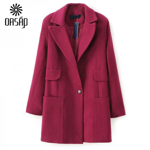 OASAP-2015-Autumn-Winter-New-Casacos-Femininos-Women-Long-Sleeves-One-Button-Woolen-Coat-Long-Outerwear-1