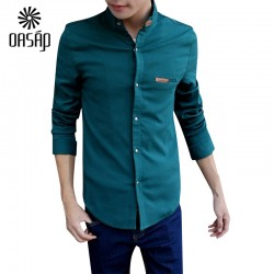 OASAP-Brand-Moon-Stand-Collar-Solid-Color-Men-Shirt-Long-sleeve-Shirt-Slim-Fit-Casual-Shirts-1