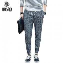 OASAP-Chic-Floral-Printed-Drawstring-Slim-Fit-Man-Pants-summer-new-brand-men-s-pants-street-1