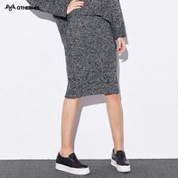 Othermix-2016-gray-knit-winter-new-wild-temperament-Slim-package-hip-skirt-skirts-1