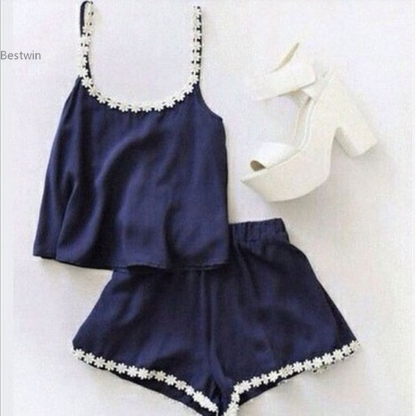 Sexy-Women-s-Jumpsuits-patchwork-Playsuits-Summer-Ladies-Rompers-2-Piece-set-Crop-Top-And-Shorts-1