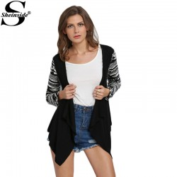 Sheinside-Vogue-Designer-Autumn-Female-Casual-Knitwear-New-Arrivals-Fashion-Black-Geometric-Print-Drape-Front-Knit-1