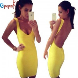 Spaghetti-strap-celebrity-HL-bandage-dress-summer-sexy-night-club-party-2015-new-yellow-short-mini-1