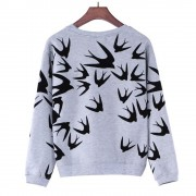 Spring-Autumn-Women-Casual-Grey-Crewneck-Sweatshirts-Long-Sleeve-3D-Swallow-Pullover-Free-Shipping-2