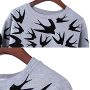Spring-Autumn-Women-Casual-Grey-Crewneck-Sweatshirts-Long-Sleeve-3D-Swallow-Pullover-Free-Shipping-3
