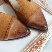 Spring-Fashion-Genuine-Leather-cow-leather-T-tied-Patch-Frework-Pointed-Toe-Med-Heel-Shoes-Sweet-6