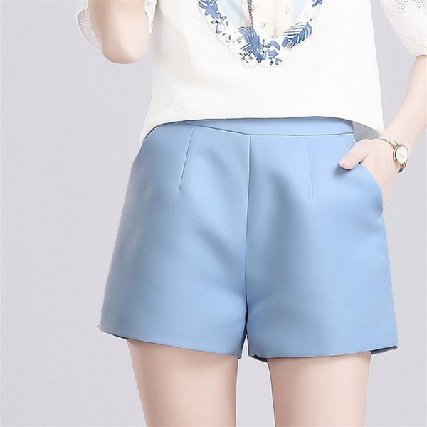 Summer-Women-A-Line-High-Waist-Shorts-2015-Fashion-Sexy-Elagant-Solid-Pleated-Casual-Loose-Plus-1