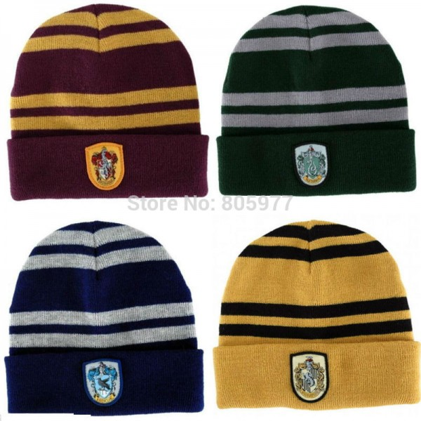 Warm-fashion-Harry-Potter-Gryffindor-Wool-Knit-Beanie-Hat-Cap-Slytherin-Ravenclaw-Hufflepuff-Emblem-School-Hats-1