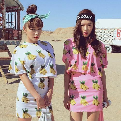 Wholesale-Summer-2015-New-Fruit-Banana-Printed-T-shirt-Skirt-Set-Loose-Girl-Women-Fashion-Jumpsuits-1