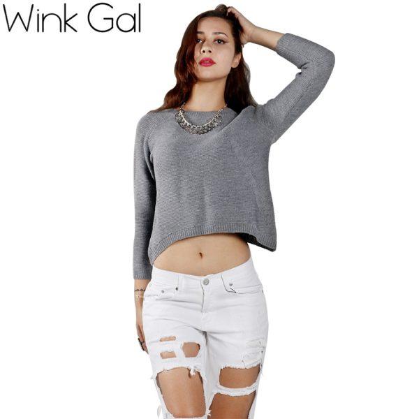 Wink-Gal-2015-Autumn-Winter-Fashion-Short-Women-Knitted-Sweater-Asymmetric-Hem-Pullovers-Tops-1