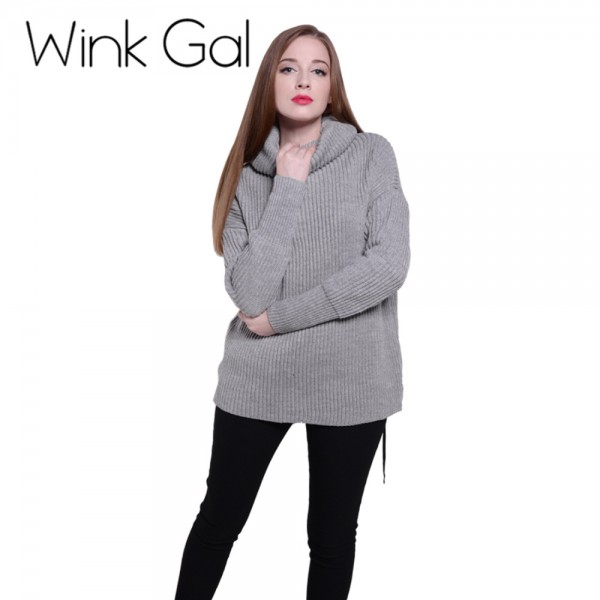 Wink-Gal-2015-Winter-Autumn-Fashion-Full-Sleeve-Cotton-Turtleneck-Oversized-Sweater-Pullovers-1369-deal-1