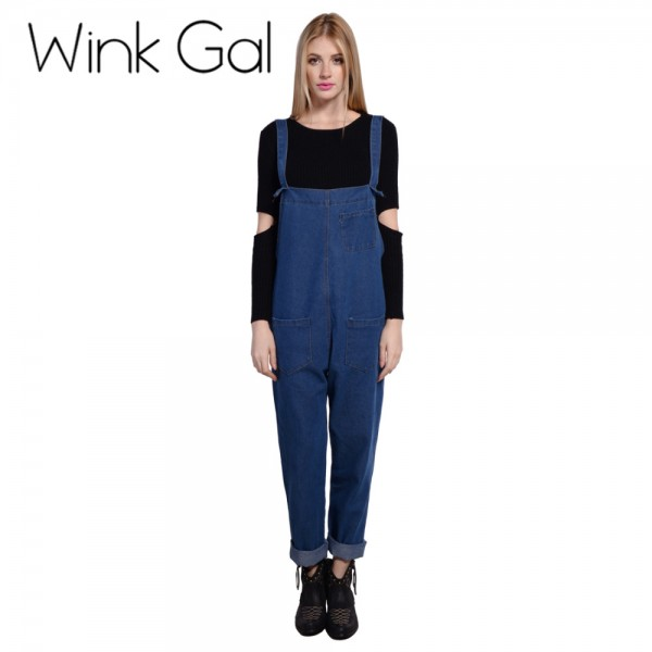 Wink-Gal-Denim-Jumpsuit-Denim-Overalls-Women-Loose-Solid-Jeans-Pants-Female-Summer-Cloth-W1893-1