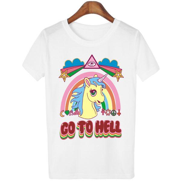 Women-Casual-Unicorn-T-shirt-Harajuku-Blusa-Tops-Crew-Neck-White-Short-Sleeve-T-shirt-Lady-1