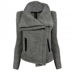 Women-New-Arrival-Casual-Fashion-Solid-Long-Sleeve-Winter-Zipper-Pockets-Jacket-Coats-Gray-1