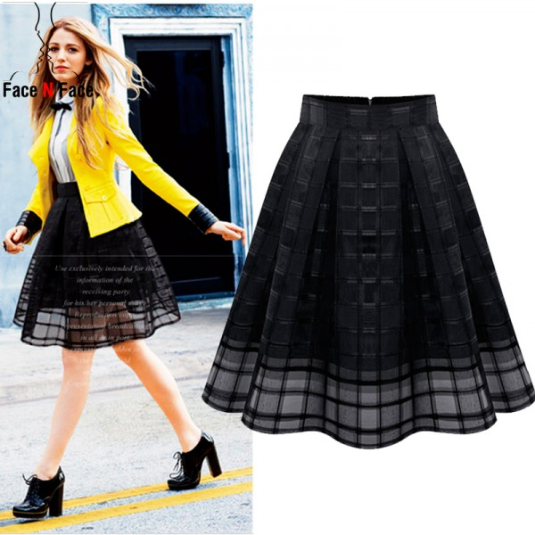 Women-Organza-Midi-Skirts-New-2015-Summer-Style-Elastic-High-Waist-Zipper-Ladies-Skirt-Female-Pleated-1